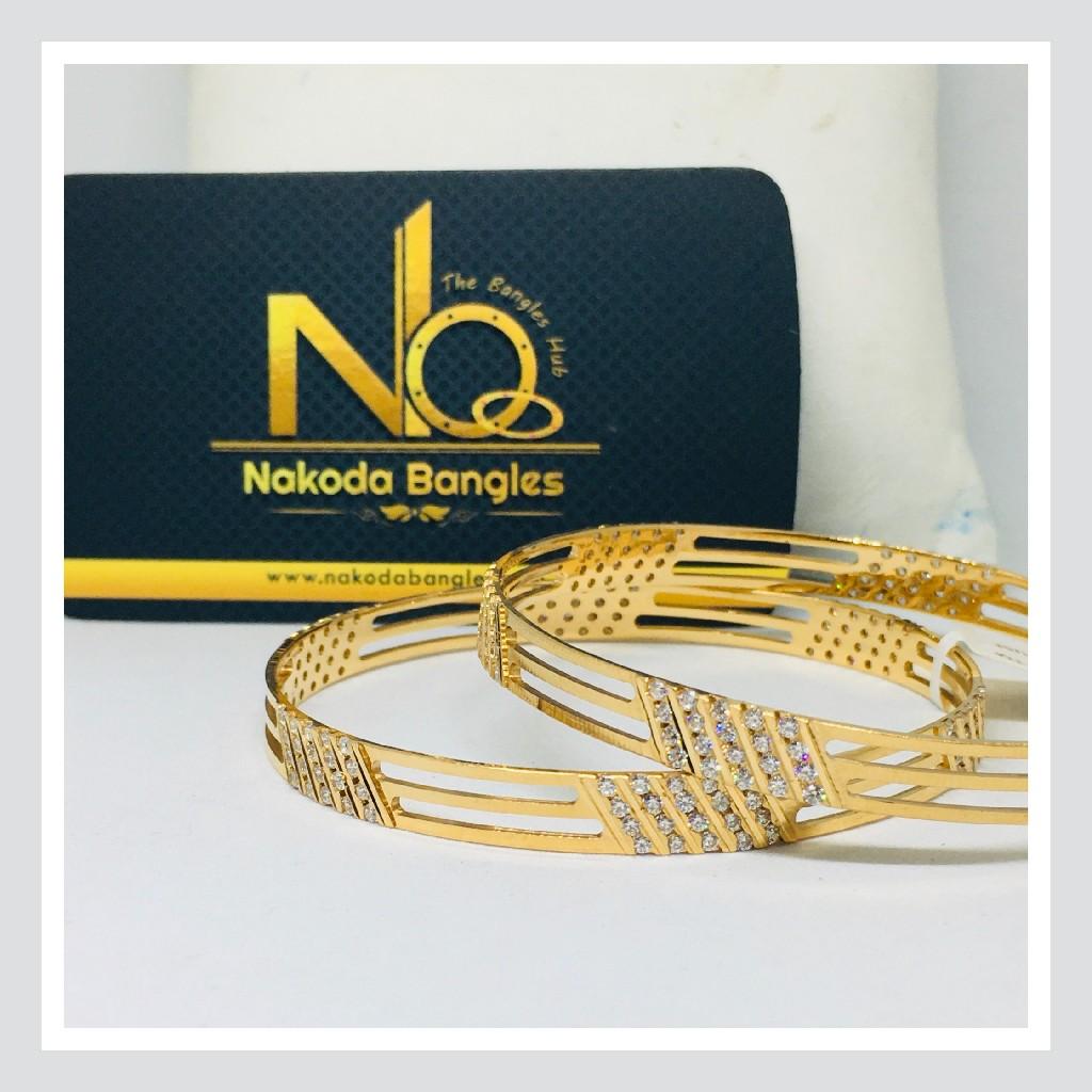 916 Gold CNC Bangles NB - 719