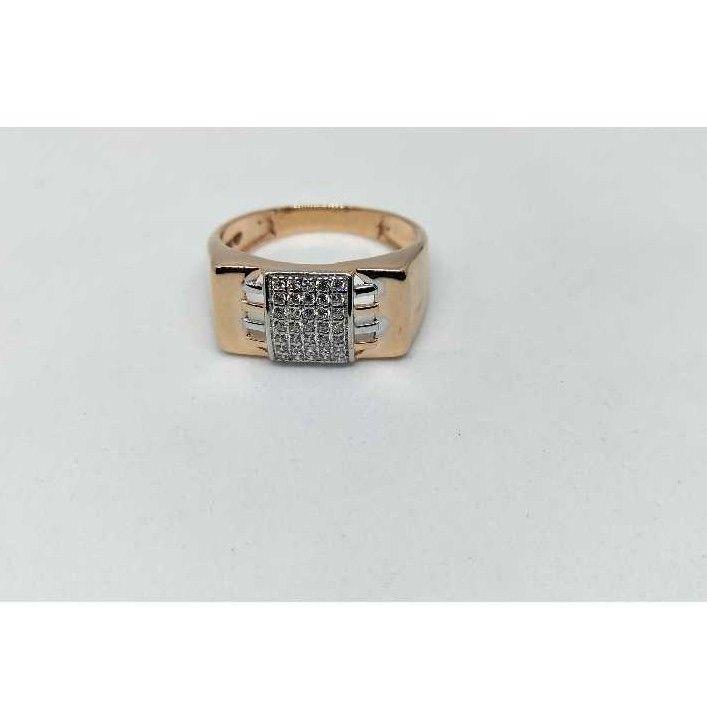 18k men's rose gold rings NO-31325
