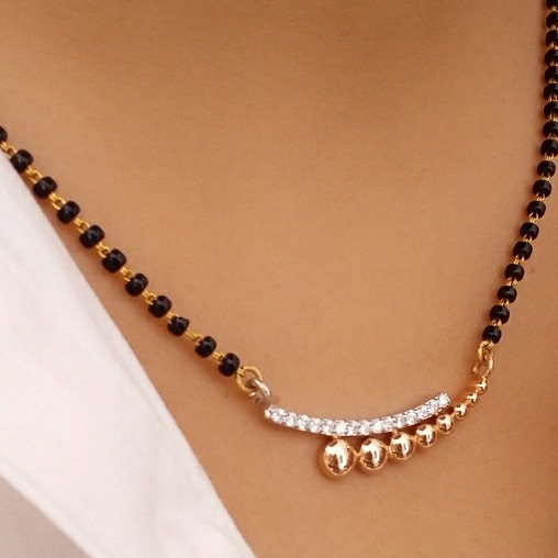 18KT Rose Gold office ware Mangalsutra pendant for ladies MSG1001