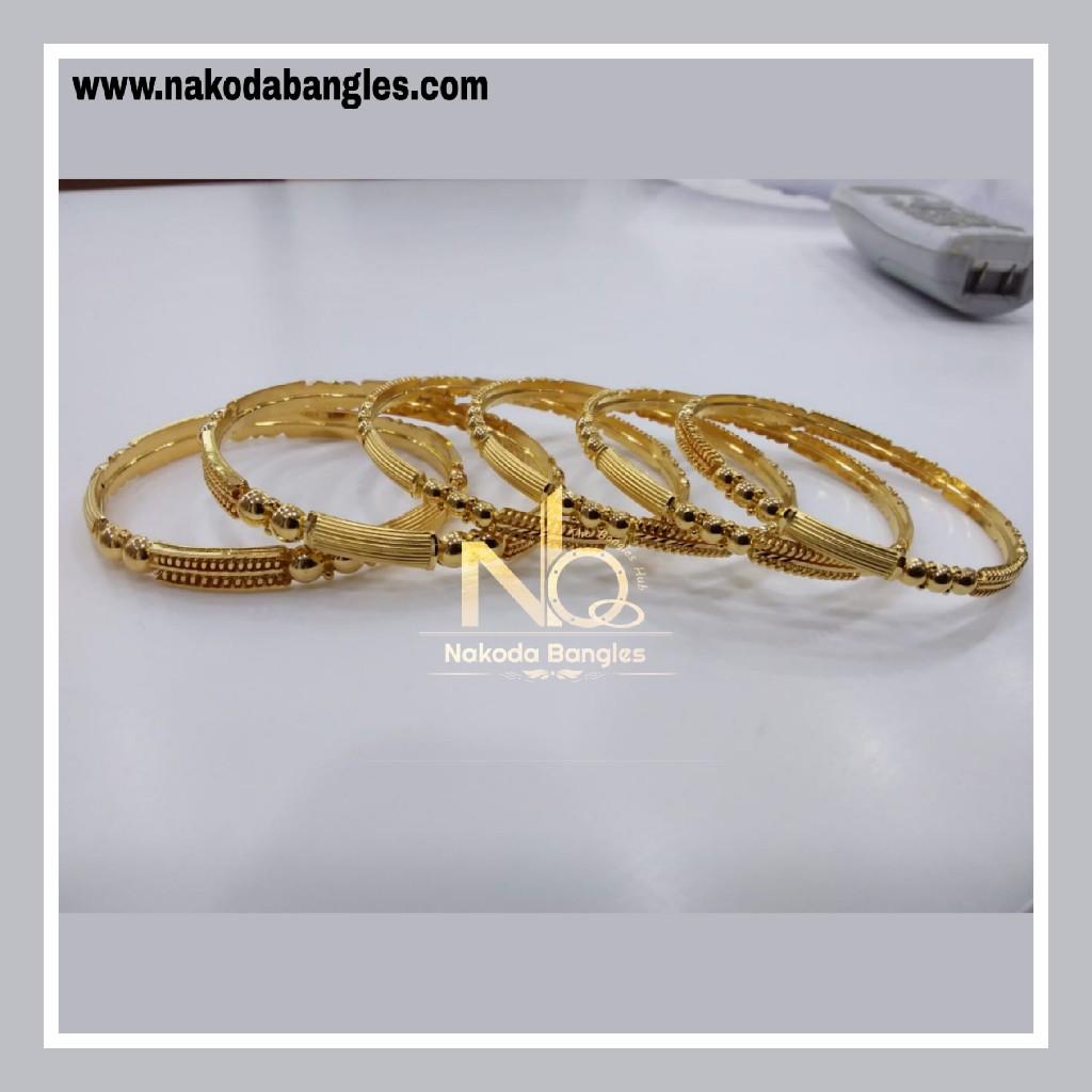 916 Gold Patra Bangles NB - 842