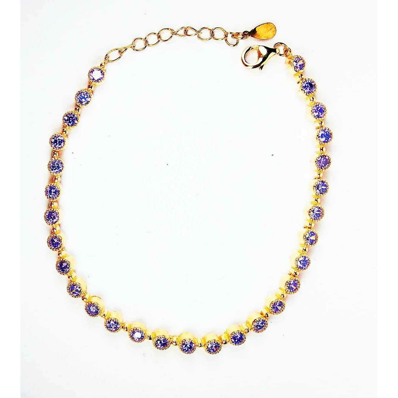 Fancy 925 Silver Goldrn Coloured Ladies Bracelet