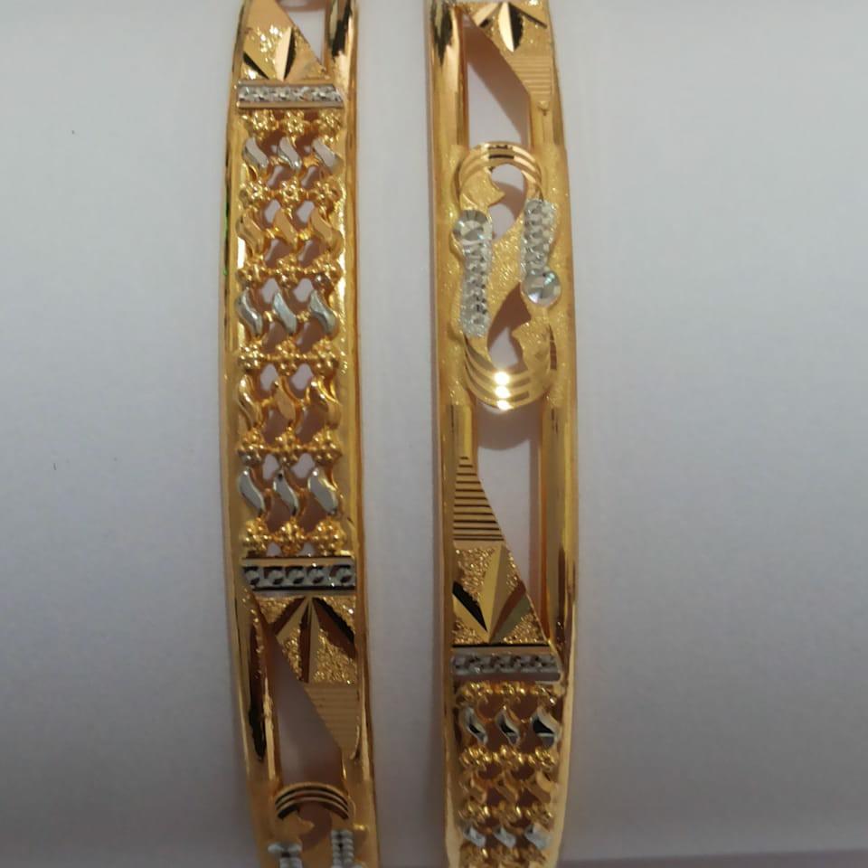 22ct Gold Rodium Bangle SG-77