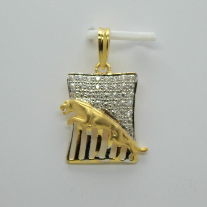 Fancy cz gold gents Pendant