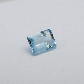 5.125ct radiant sky-blue aquamarine