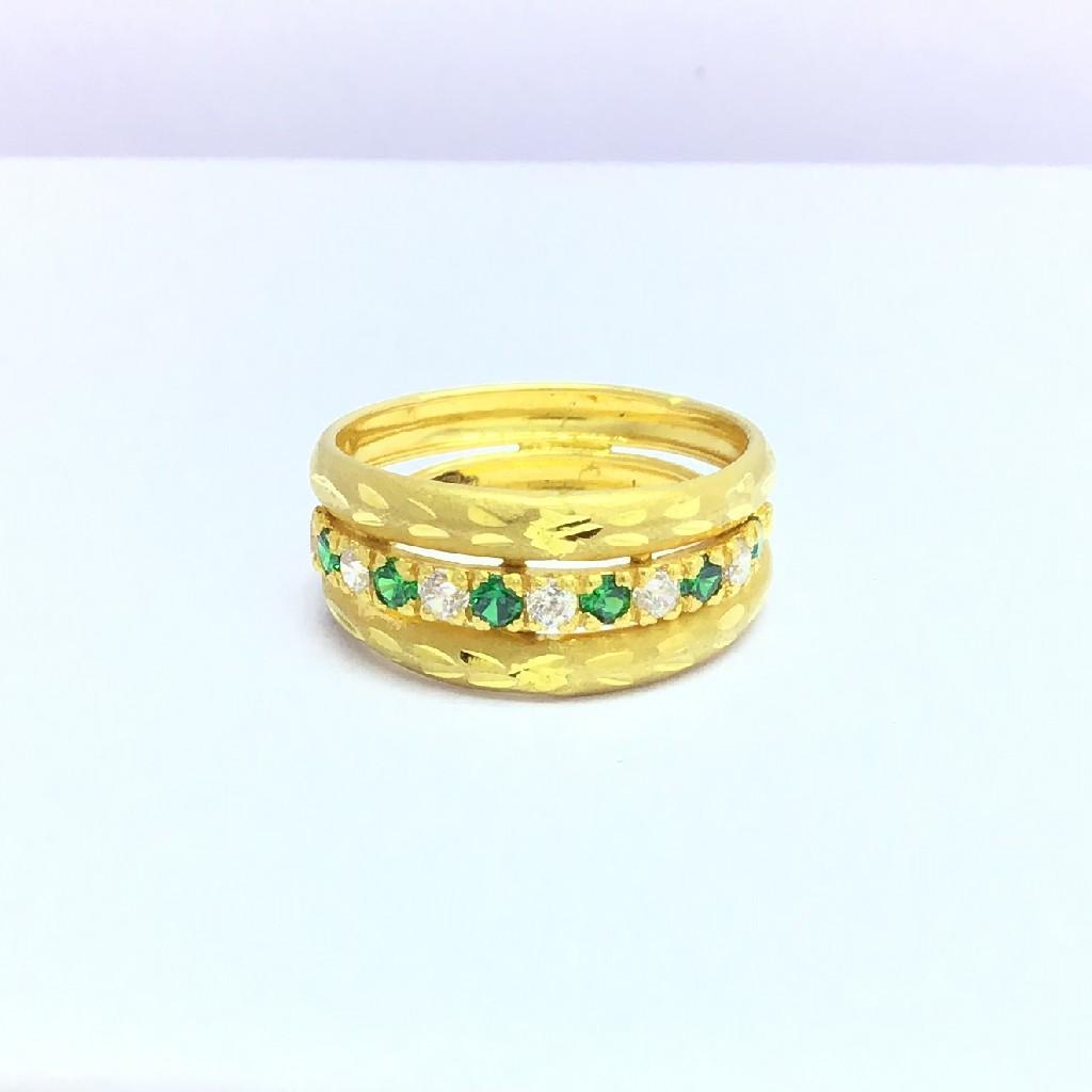 designing fancy ladies gold ring