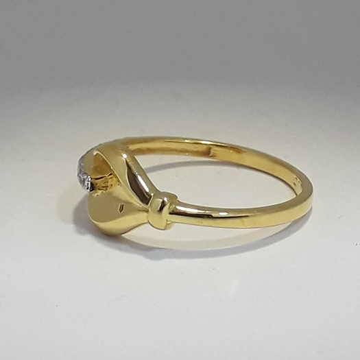916 Gold light weight ladies ring MJ-ED5170