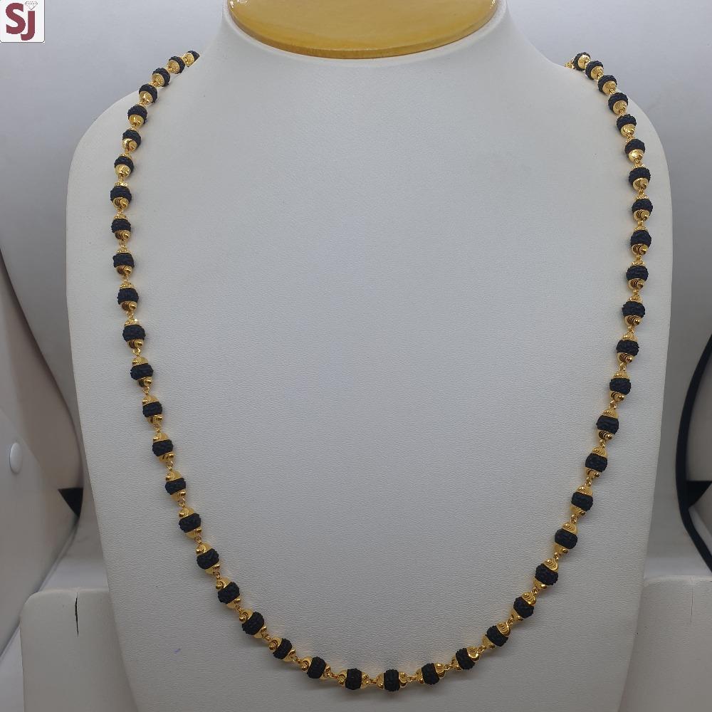 Rudraksh Mala Black RMG-061 Gross Weight-18.360 Net Weight-15.330