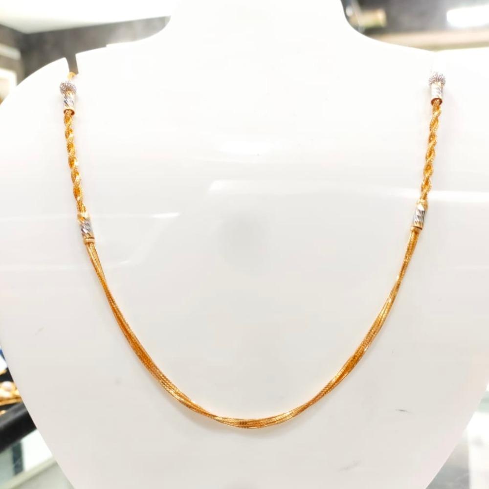 22 Carat gold rodium chain RH_CH115