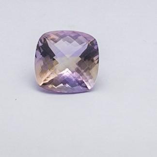 18.56ct cushion purple ametrine