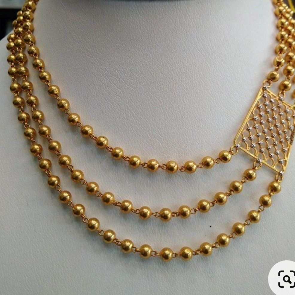 3 layer necklace in 916