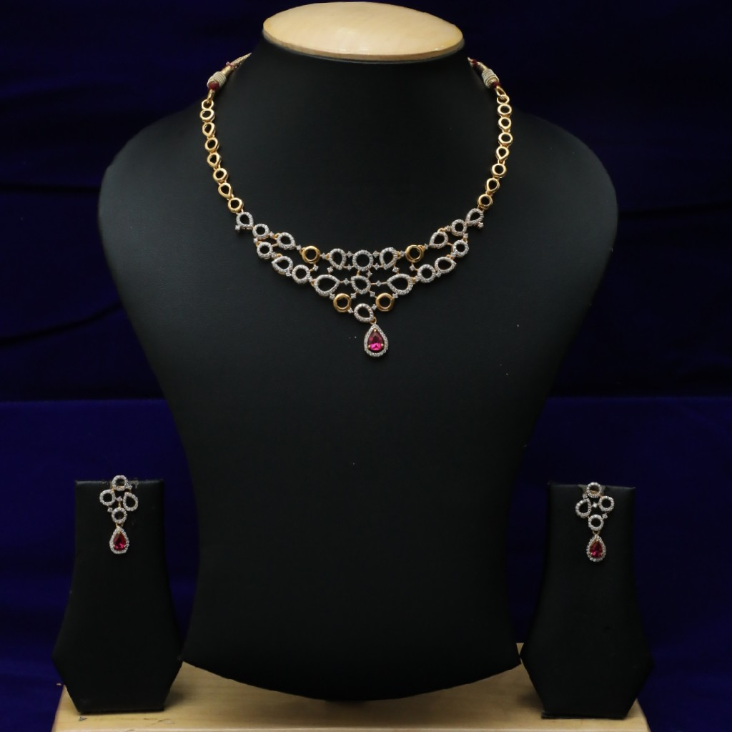 916 Diamond Necklace set CZS0022