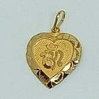 Gold Hallmark Om pendant