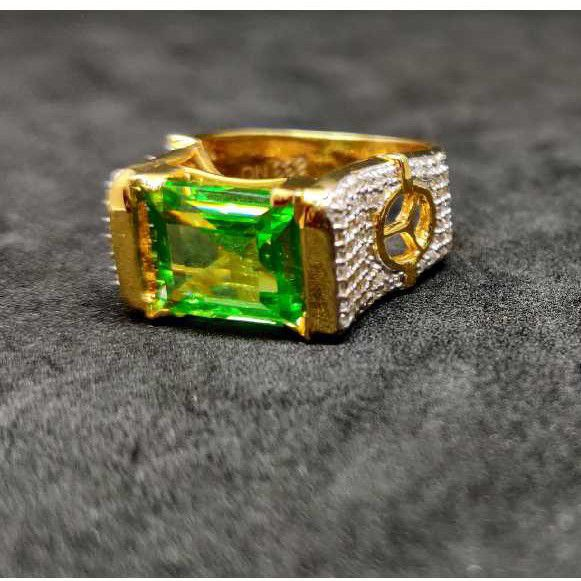 916 Men's Colour Stone Gold Ring