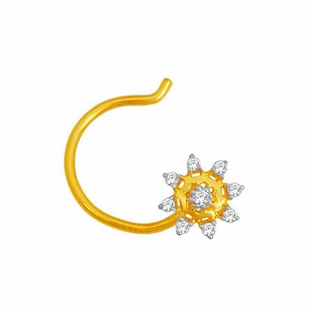 18K Gold Real Diamond Nosepin MGA - RN008