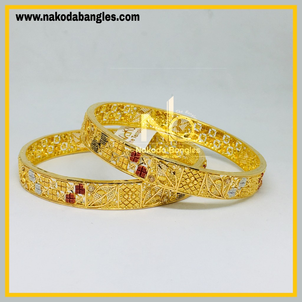 916 Gold Calcutty Bangles NB - 435
