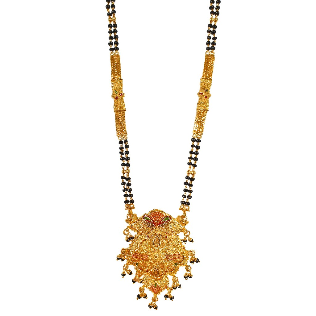 1 Gram Gold Forming Meenakari Mangalsutra MGA - MSE0461