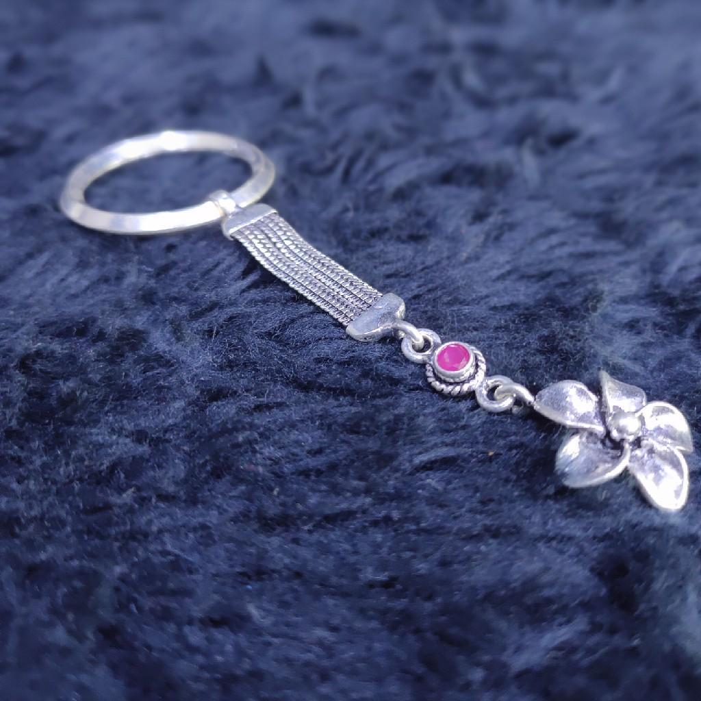92.5 sterling silver flower  keychain sky-107