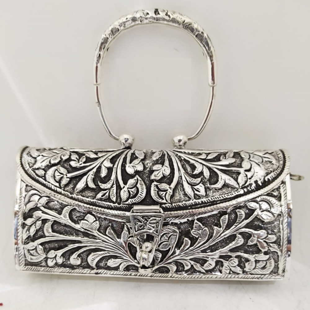 Stylish and 925 Pure Silver Clutch With Handle PO-164-22