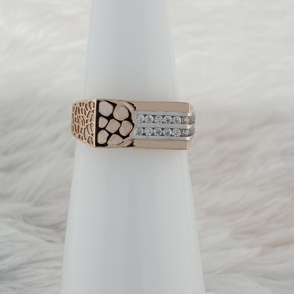 2 line diamond ring