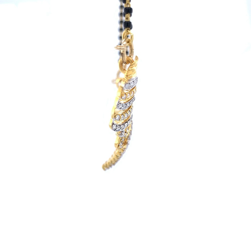 Diamond Mangalsutra Pendant in 18k Yellow Gold - 7.600 grams - VVS EF - 1.82 cts - 8DHP102