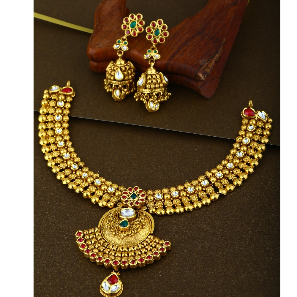 916 Gold New Style Bridal necklace Set