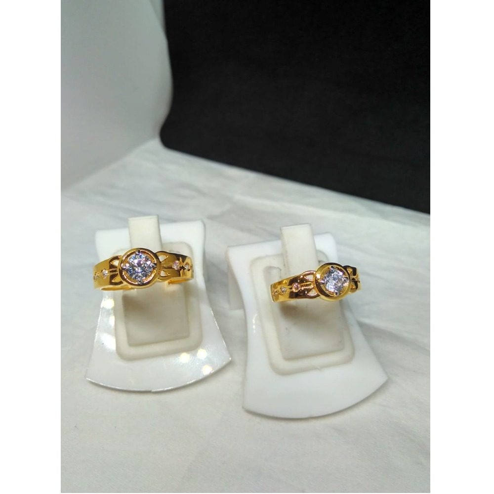 22Kt Gold CZ Fancy Couple Ring SG-R004