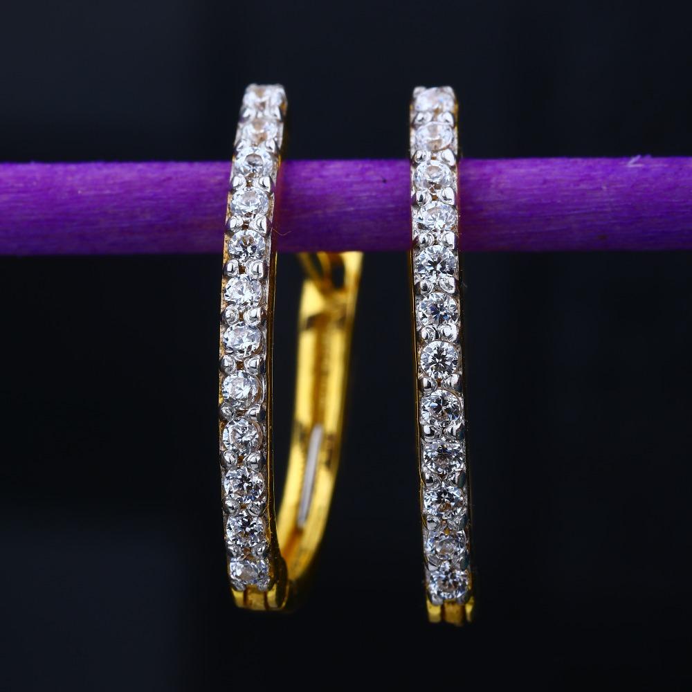 22KT Gold Plain Light Weight Design Hallmark Tops