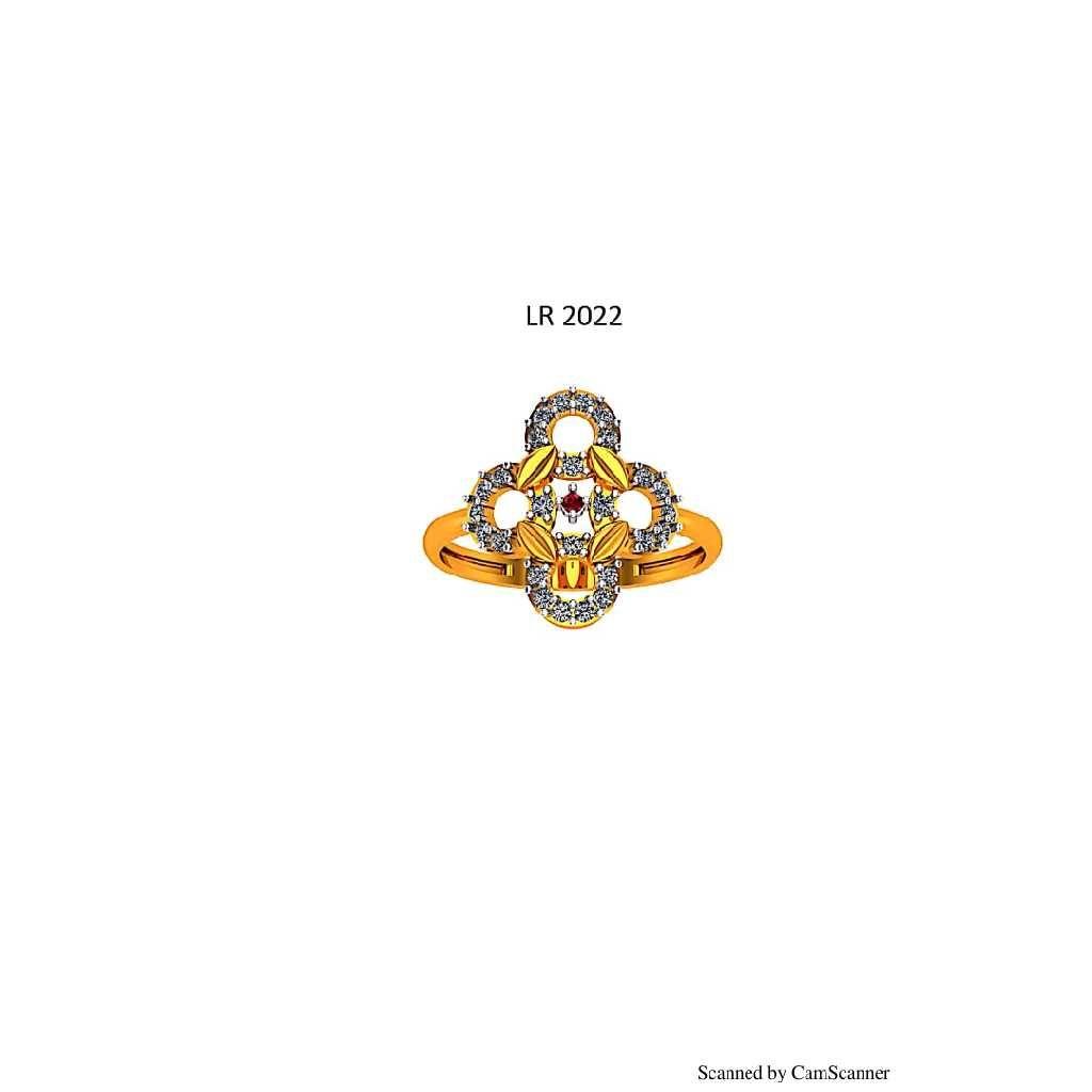 76 Gold cz Ladies ring 022