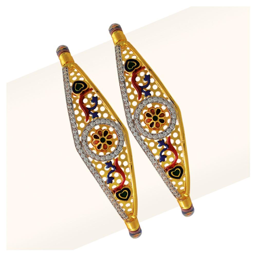 916 Colorful Gold Manka Modhiya Copper Kadli RJSP-052