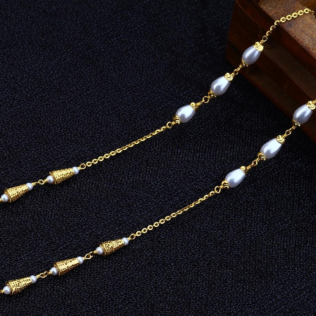 22kt Gold Exclusive Women's Antique Chain Mala AC135