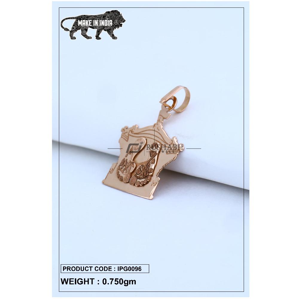 18 Carat Italian pendent rose gold god shape ipg0096