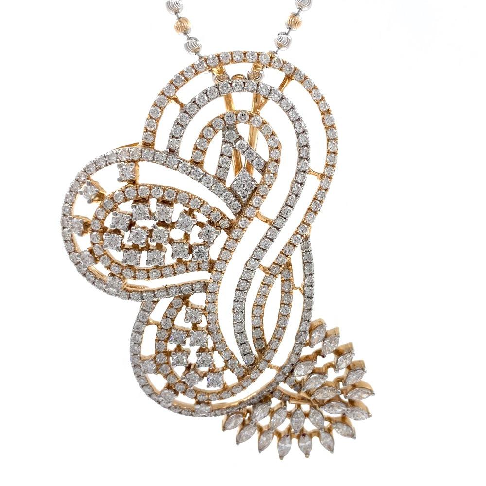 Étourdissante designer diamond pendant in 18k rose gold 9shp23