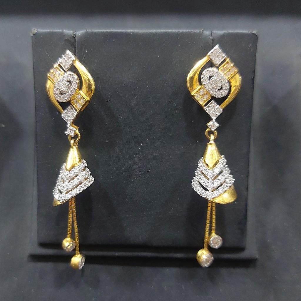 916 cz hanging earring