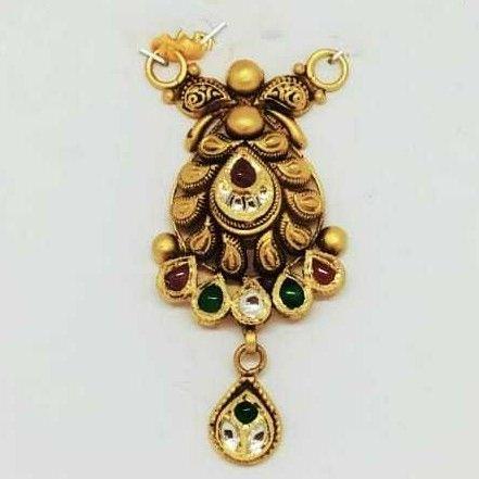 22 KT Gold Oxidised Designer Pendant