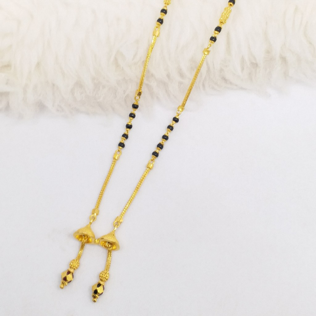 22 KT 916 Hallmark Gold Dokiya style Fancy ladies Mangalsutra Chain