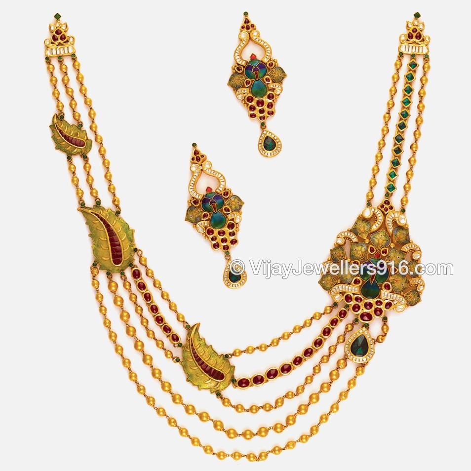 22K / 916 Gold Modern Layered Chain Necklace Set