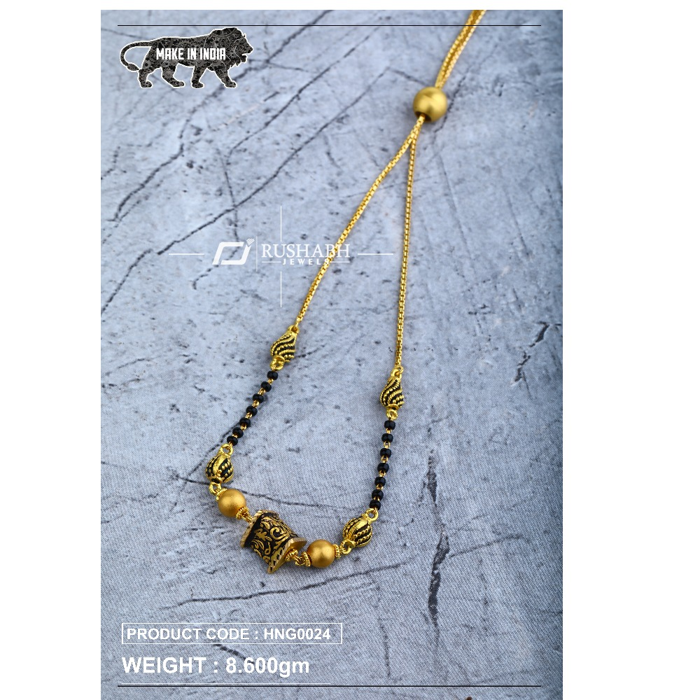 22 Carat 916 Ladies handy antique mangalsutra with chain hng0024