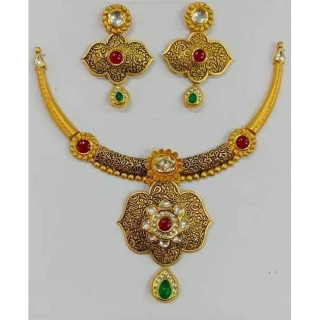 916 Fancy Gold Necklace Set