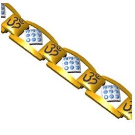 916 cz diamond gold bracelet