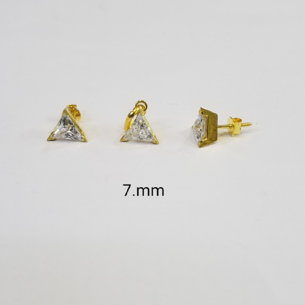 18kt gold c ston pendant Set WP2193
