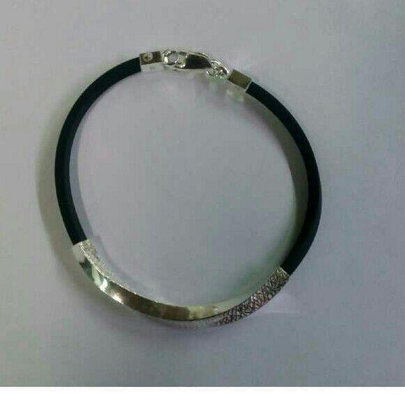 925 Silver Rubber  Attractive Bracelet