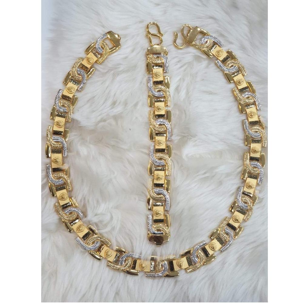906 Gold Fancy Chain Bracelet For Men KV-GB005