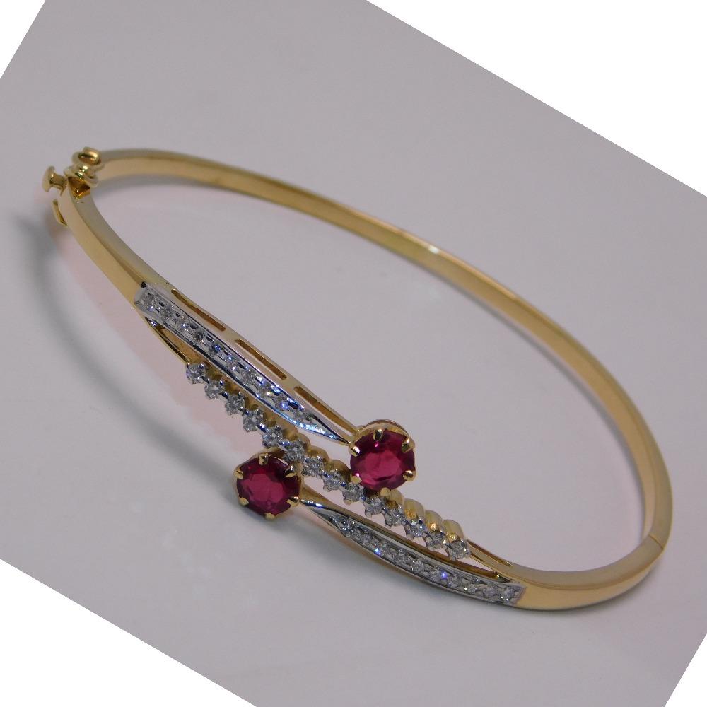 18K gold diamond brecelet agj-br-02