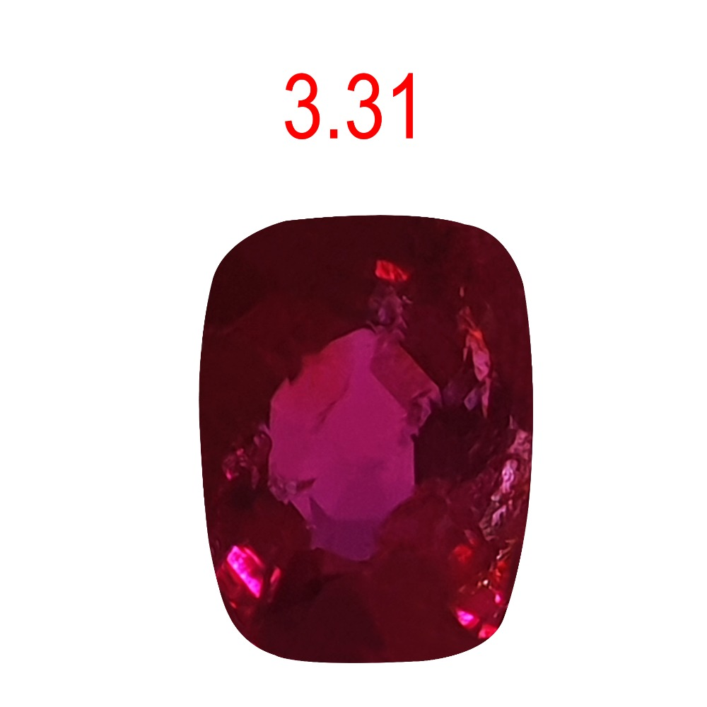 3.31ct oval pink color ruby