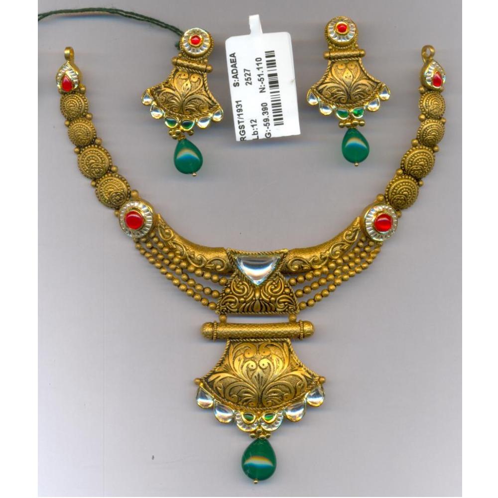 916 Gold Antique Necklace Set GC-N03