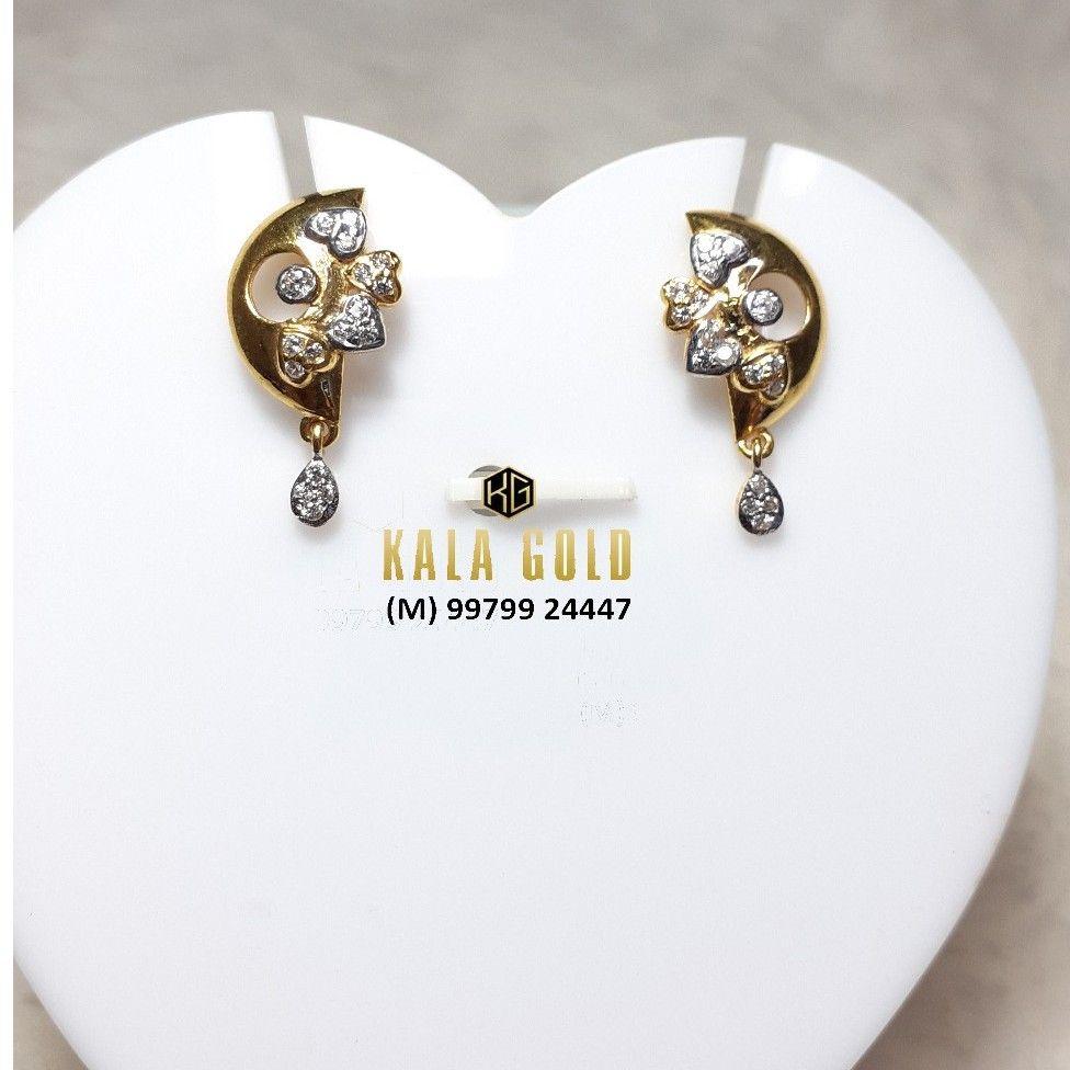 916 Fancy Heart Shaped CZ Earrings