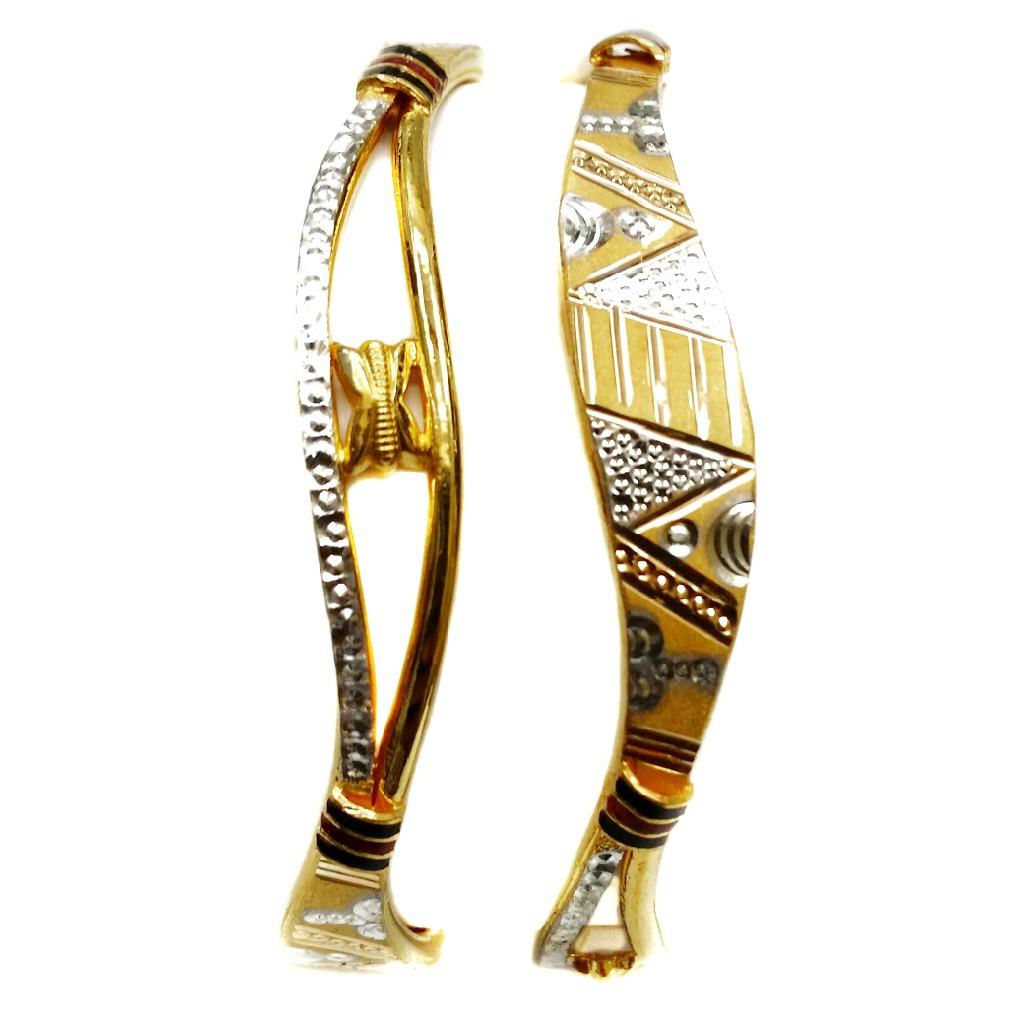 916 Gold Copper Kadli Bangles MGA - GK042