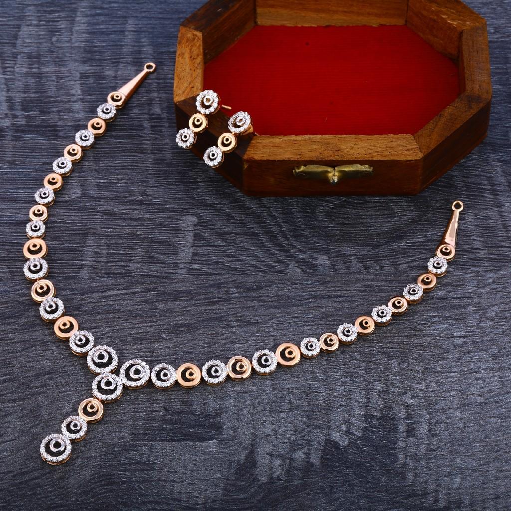 18KT Rose Gold Fancy Women's Necklace Set RN139