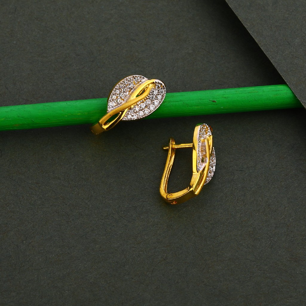 750 Gold Cz Fancy Women's Earring Bali LFB116