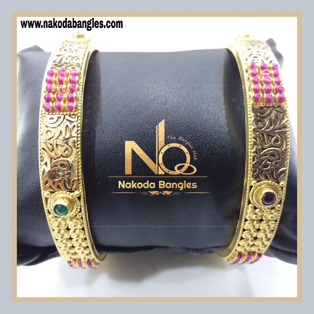 916 Gold Chakri Bangles NB - 854